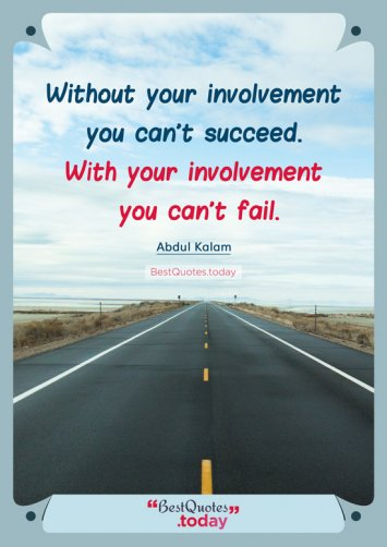 Success Quote by A.P.J Abdul Kalam