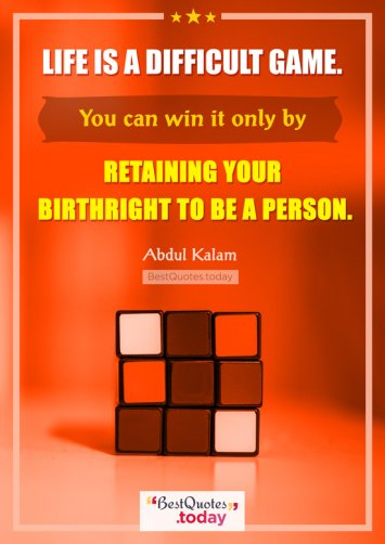 Life Quote By A.P.J. Abdul Kalam