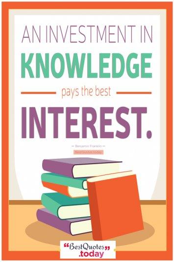 Knowledge Quote - Benjamin Franklin
