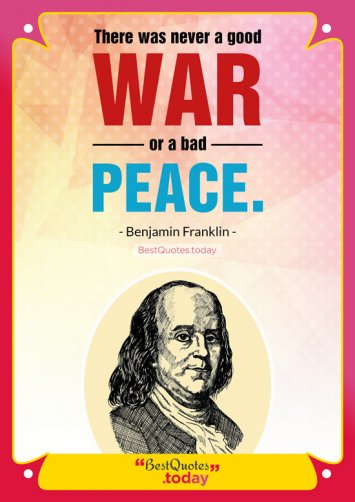 Peace and Philosophy quote by Benjamin Franklin