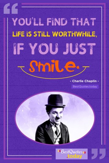 Happiness Quote - Charlie Chaplin
