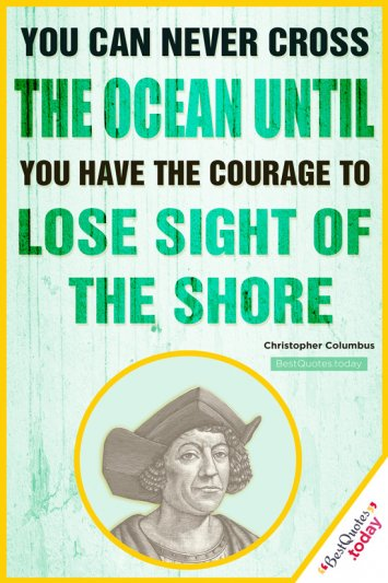 Inspirational Quote - Christopher Columbus