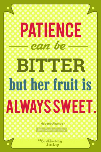 Patience Quote by Habeeb Akande