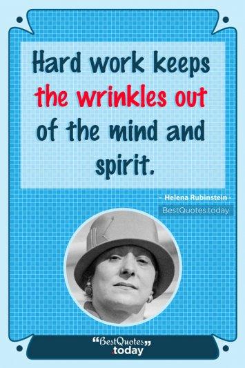 Work Quote by Helena Rubinstein