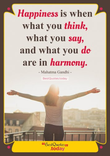 Happiness Quote by Mahatma Gandhi