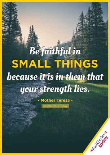 Strength Quote by Mother Teresa