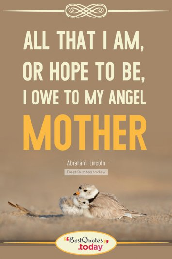 Mother Quote by Abraham Lincoln