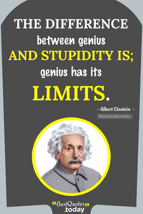 Philosophy Quote by Albert Einstein