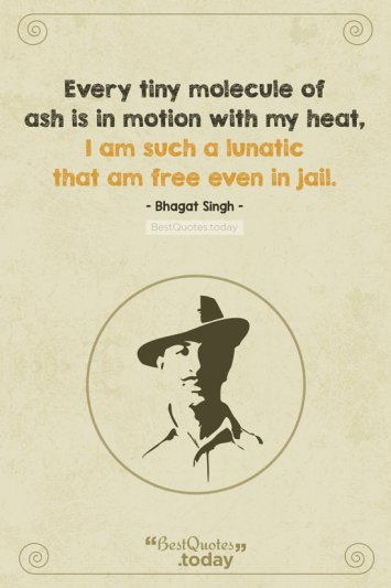 Freedom Quote by Bhagat Singh