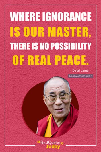 Peace Quote by Dalai Lama