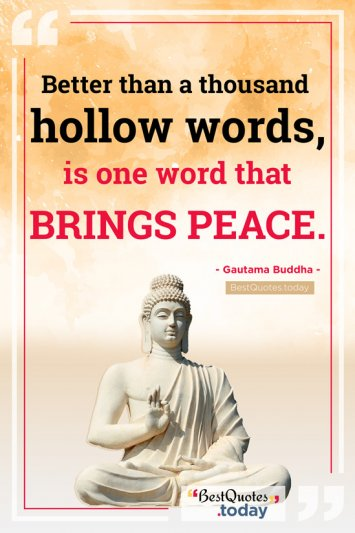 Peace Quote by Gautama Buddha