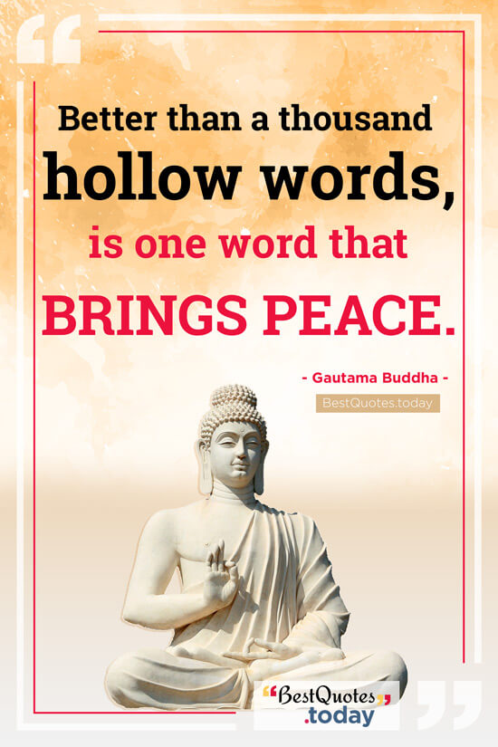 Peace Quote by Gautama Buddha