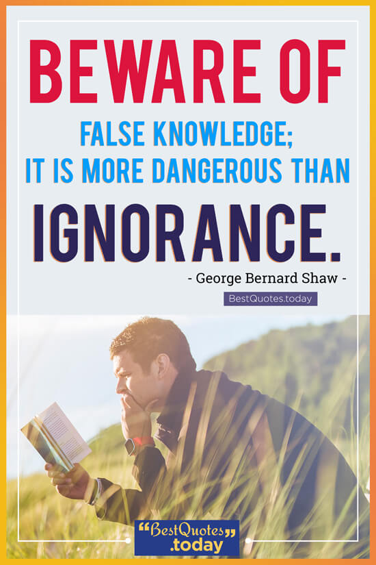 Knowledge Quote by George Bernard Shaw