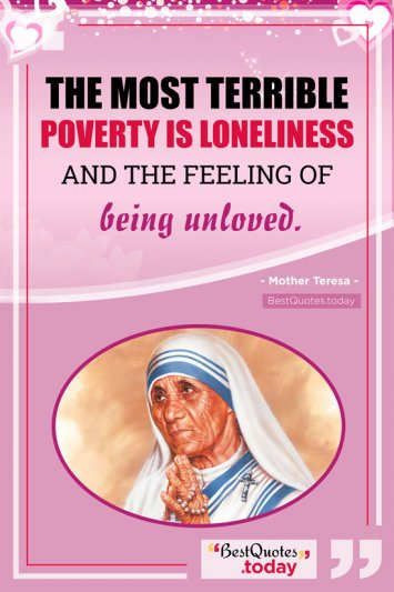 Love Quote by Mother Teresa