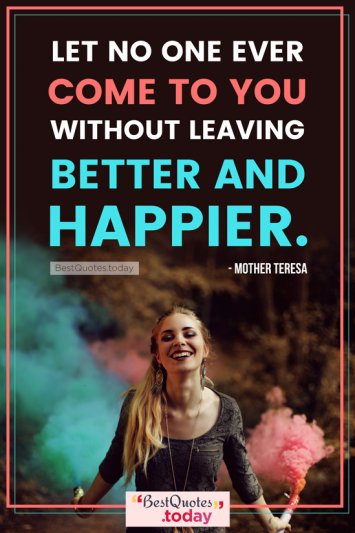 Love & Happiness Quote by Mother Teresa
