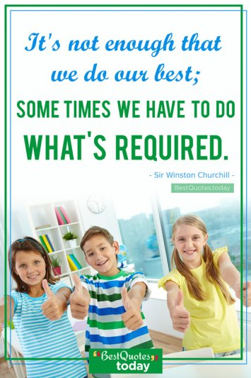 Excellence Quote by Sir Winston Churchill