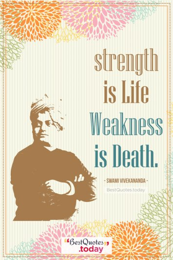 Inspirational Quote by Swami Vivekanand