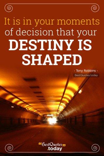 Destiny Quote by Tony Robbins