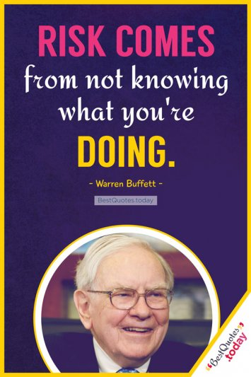 Knowledge Quote by Warren Buffet