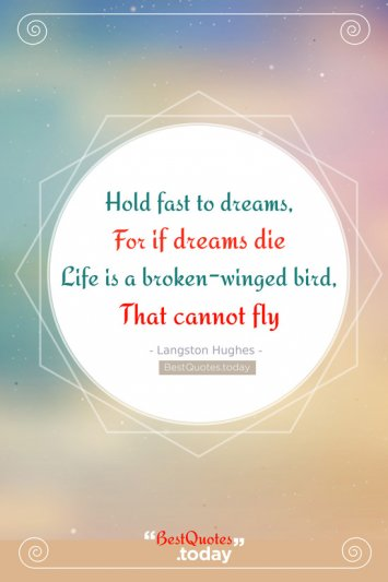Inspirations & Wisdom & Dream Quote by Langston Hughes