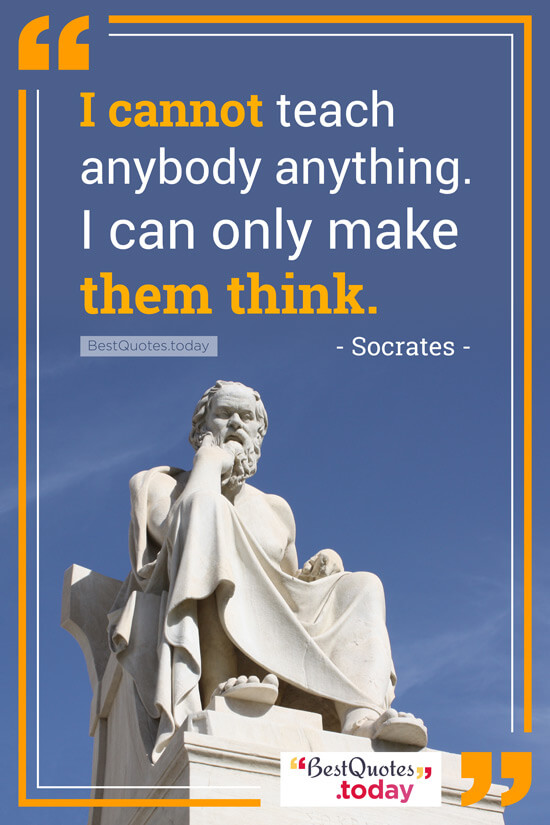 Philosophy Quote by Socrates