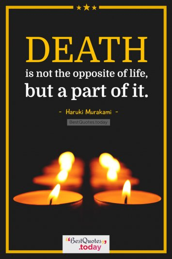 Death & Life Quote by Haruki Murakami