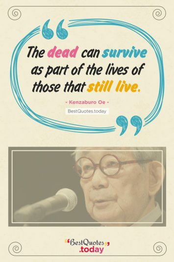 Death Quote by Kenzaburo Oe