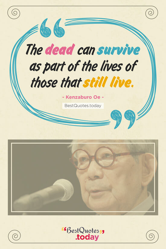 Death Quote by Kenzaburo Oe