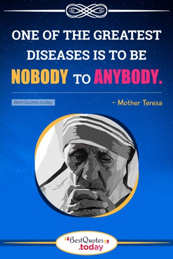 Life Quote By Mother Teresa