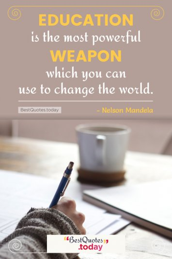 Educational Quote by Nelson Mandela