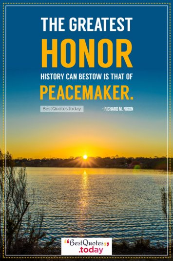 Honor Quote by Richard M. Nixon