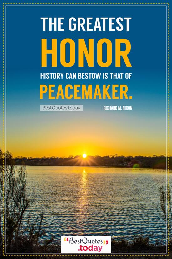 Honor Quote by Richard M. Nixon