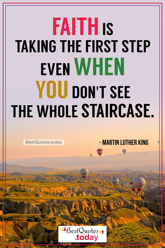 Faith Quote by Martin Luther King