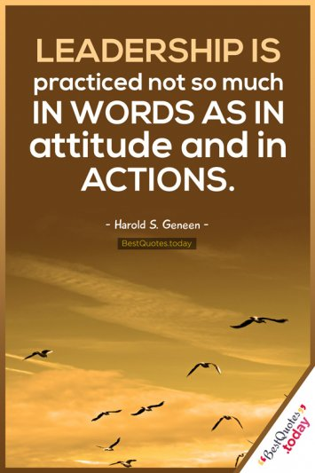 Leadership and Attitude Quote by Harold S. Geneen