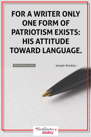 Attitude Quote by Joseph Brodsky