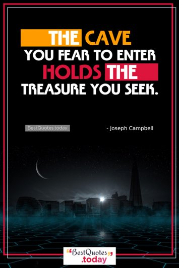 Faith And Inspirational Quote by Joseph Campbell