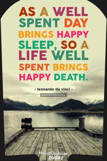 Life Quote by leonardo da vinci