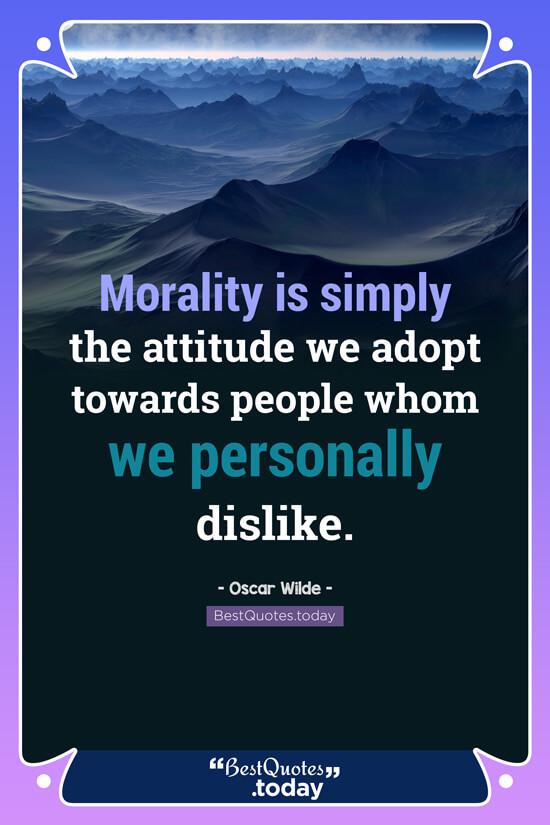Attitude Quote by Oscar Wilde