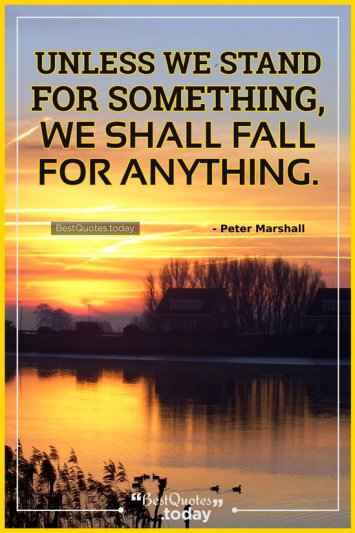 Leadership And Inspirational Quote by Peter Marshall