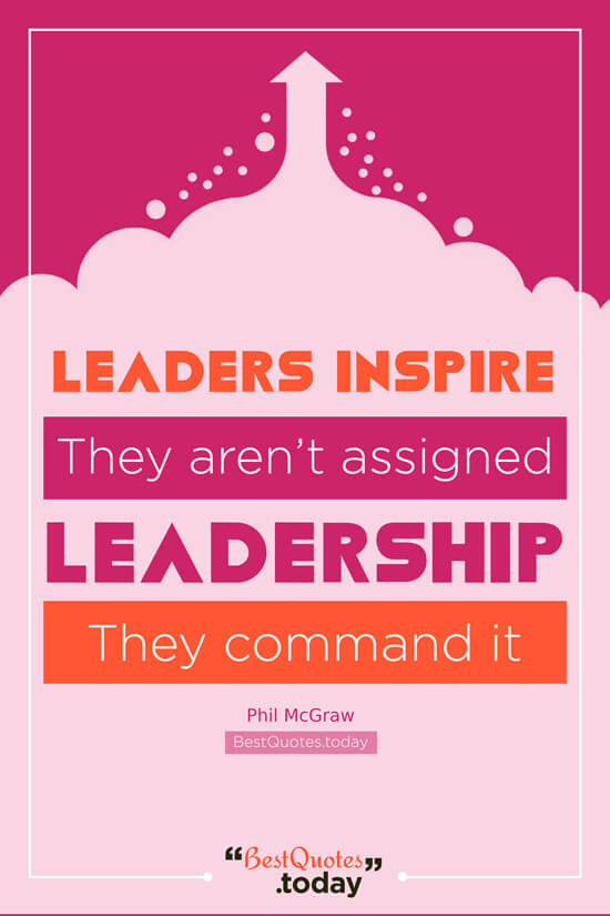 Leadership & Inspirational Quote by Phil McGraw