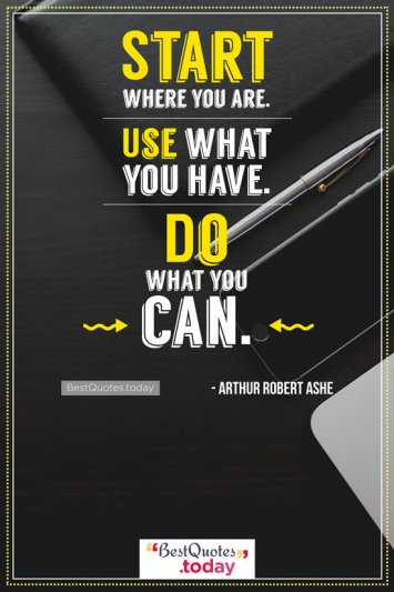 Motivational Quote by Arthur Robert Ashe