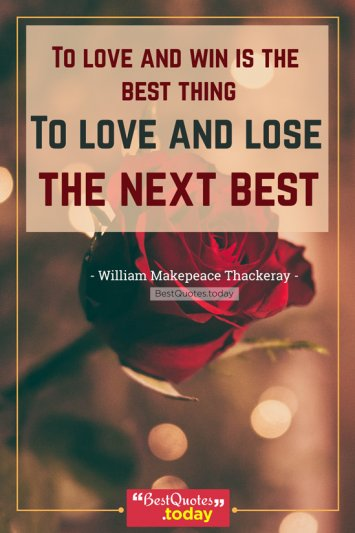 Love Quote by William Makepeace Thackeray