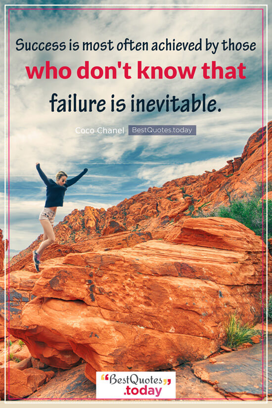 Success & Failure Quote by Coco Chanel