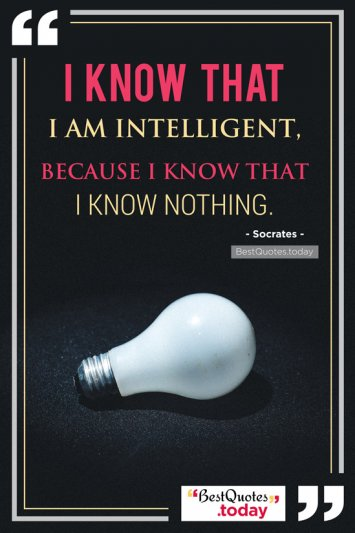 Intelligence Quote by Socrates