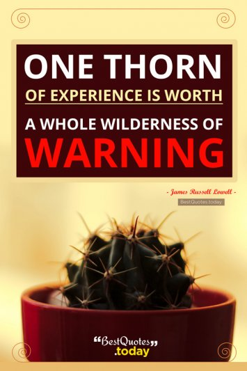 Experience Quote by James Russell Lowell