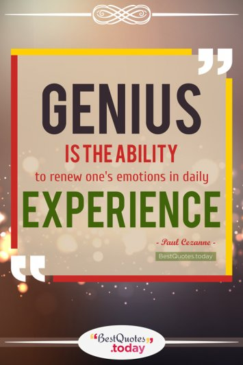Experience Quote by Paul Cezanne