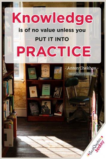 Knowledge Quote by Anton Chekhov