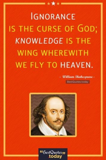 Ignorance & Knowledge Quote by William Shakespeare