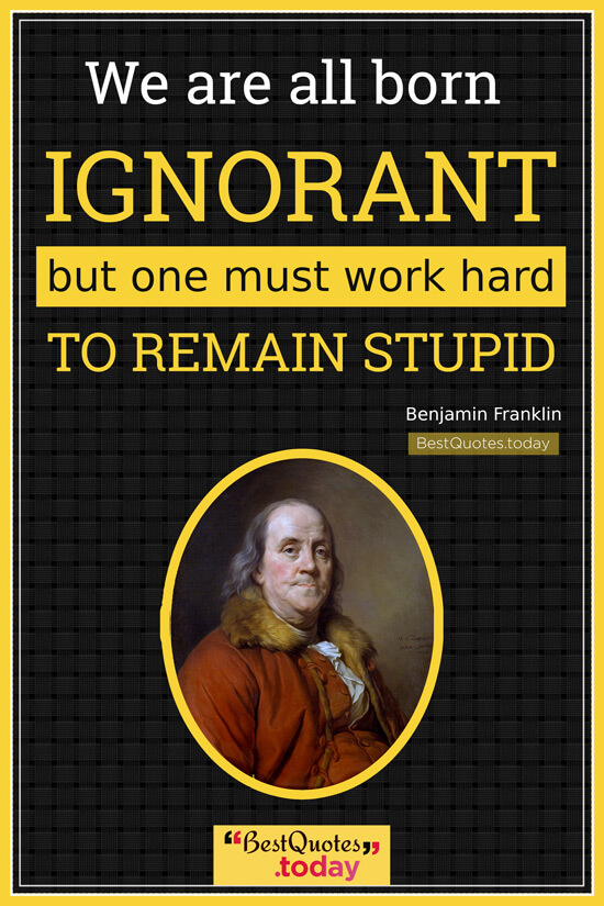 Work & Knowledge Quote by Benjamin Franklin