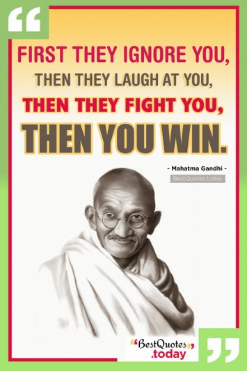 Motivational & Inspirational Quote by Mahatma Gandhi